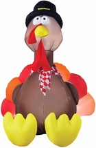 Thanksgiving Airblown Inflatable TURKEY WITH LIGHTS 6 FT INFLATABLE PROP... - £55.64 GBP