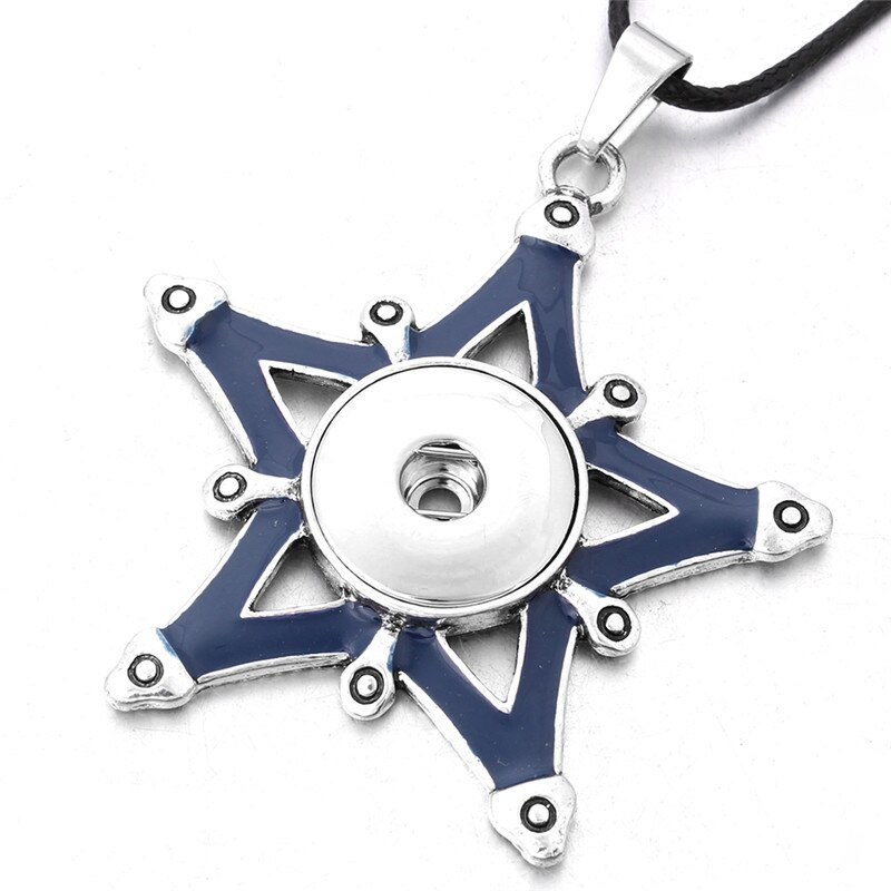 New Styles Metal Star 18mm Snap Button Necklaces & Pendants Snap Jewelry DIY Jew image 3