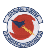 """4.38"""" AIR FORCE 53RD WEATHER RECONNAISSANCE HURRICANE HUNTERS EMBROIDERE... - $18.04"""