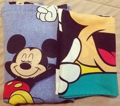 Mickey Mouse Laying in Bed Awake Asleep Disney Twin Flat Sheet Pillowcase - $27.72