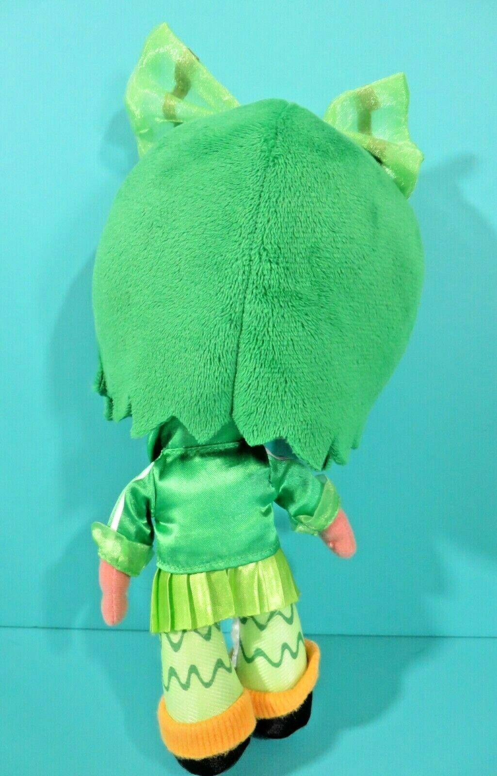 "Disney Store Wreck It Ralph Minty Zaki Green 9"" Plush Bean Bag Girl Doll Scented"