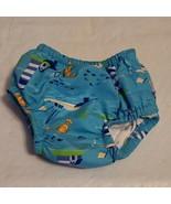 I Play Infant Boys 3-6 Months Blue Seaside Theme Swim Diaper Cover Swimsuit - $14.99
