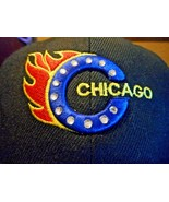 BLACK COLOR CHICAGO BALL CAP ADJUST EMBROIDERED ONE SIZE FIT ALL - $8.90