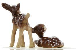 Hagen Renaker Miniature Deer Baby Fawn Standing & Lying Ceramic Figurine Set image 7