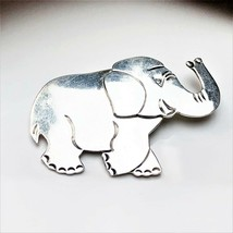 Vintage Mexico sterling silver Elephant brooch 21.2g - $24.74