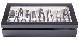 OYOBox Luxury Eye Wear Unisex Maxi Black Lacquer Finish Wood Organizer Box - €241,74 EUR