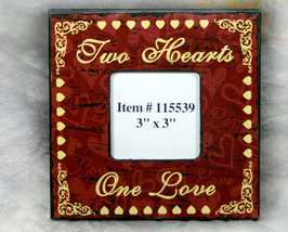 Two Hearts One Love Picture Frame 3x3 - $12.95