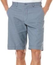 Cubavera Men's Shorts Sz 40 Flint Stone Blue Linen Flat Front with Picks... - $26.35