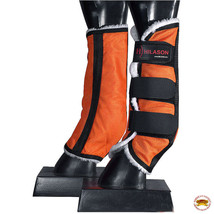 Hilason Western Horse Fly Boots W/ Fleece Uv Protection Insects Orange U-B212 - $29.95