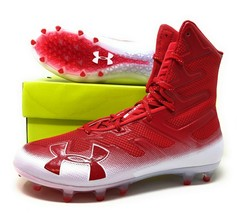 Under Armour UA Highlight MC Mens High Top Football Cleats Red 3000177-6... - $60.00