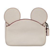 Coach Mickey Leather Ear Wristlet in white F59529