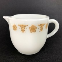 PYREX Butterfly Gold Pattern Creamer 722 Vintage Small Corelle Corning Mini 6 OZ - $9.85