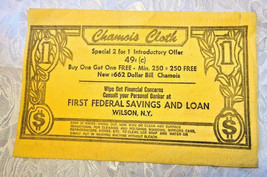WETTEX First Federal Savings and Loan Advertising Chamois Cloth - Wilson NY