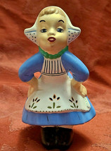 "Vintage Little Dutch Girl Ceramic Figurine Hand Crafted and Painted  4 3/4"" Tall"