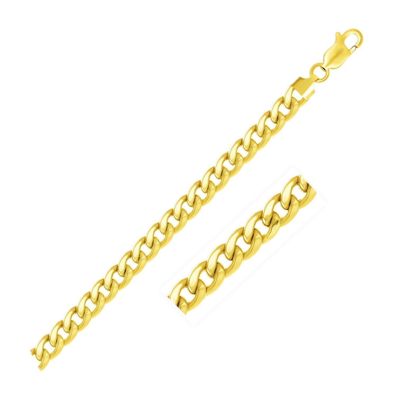 6.7mm 10k Yellow Gold Light Miami Cuban Bracelet