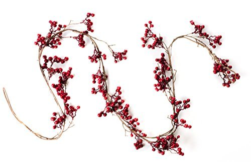 6 Foot Red Berry Garland - Perfect to Bring Holiday Cheer into Your Home This Se