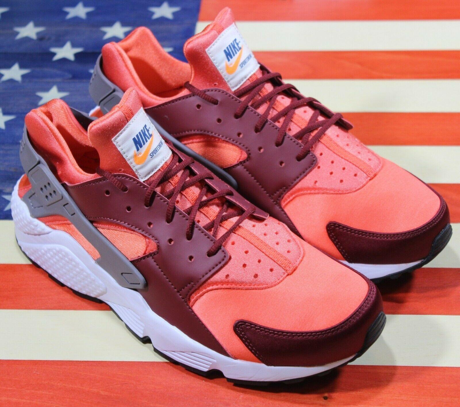 Nike Air Huarache Run Running Shoes Team Red Coral White [318429-054] Men's 11.5 image 10