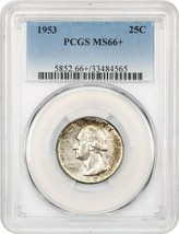 1953 25c PCGS MS66+ - Washington Quarter - $101.85