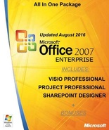 MS Office 2007 Enterprise with Visio Project SharePoint - Updated: Augus... - $39.99