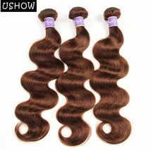 Light Brown Color Brazilian Body Wave 3 Bundles 100% Human Hair Extensio... - $75.71+