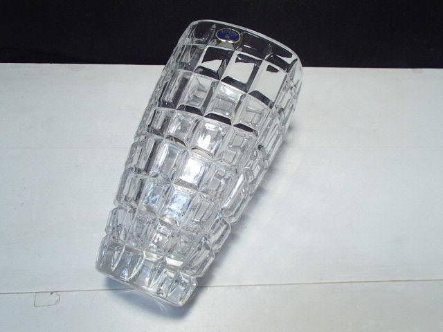 "Bohemia 8 1/4"" Crystal Vase ~~~~ a beauty w label"