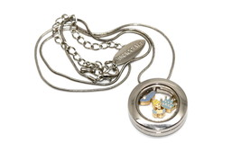 Bracciale Disney Round Locket Necklace Floating Crown Cinderella Floating Charms - $24.74