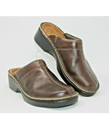 Naot Size 9 EUR 40 Clogs Mules Women's Brown Slip On Shoes Comfort Leather - $32.29