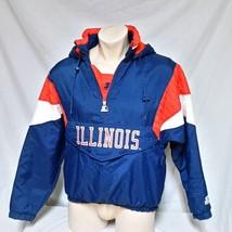VTG Starter Jacket Illinois Fighting Illini Pullover Parka Winter Coat M... - $129.99
