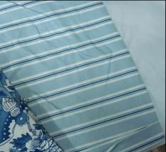 "New Ralph Lauren Blue Porcelain Stripe king Bedskirt only w RL Label 15"" drop - $78.95"