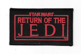 Star Wars Return of the Jedi Movie Name Logo Embroidered Patch, NEW UNUSED - $7.84