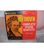 1968 Complete Set 9 Magnificent Records Beethoven Complete String Quartets - $118.80