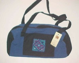 Alfalah Village Embroidery Centre Pakistan Karachi Hand Made Blue Black ... - $24.74