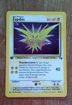 1999 Pokemon ZAPDOS holo card. #15/62 Great Shape First Edition - $19.80