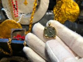"Kamarina, Sicily Tetras 420BC ""Owl | Head of Gorgon"" 18kt Bezel Jewelry ... - $1,650.00"