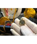 "Kamarina, Sicily Tetras 420BC ""Owl   Head of Gorgon"" 18kt Bezel Jewelry ... - $1,650.00"