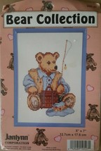 Janlynn Bear Collection Fisher-Bear Counted Cross Stitch Kit with Frame ... - $9.41
