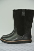 NEW Clarks Glick Elmfield Womens Sz 7.5 M Black Leather Mid Calf Boots $180 - $79.19