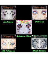 Face Art Glitter TEMPORARY TATTOOS Costume Instant Makeup Eye Decal-CHOO... - $4.97