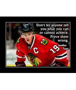 Inspirational Jonathan Toews Hockey Wall Poster Motivational Quote Wall ... - $19.99+