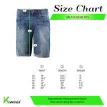 Men's Distressed Denim Light Faded Wash Stretch Ripped Casual Jean Shorts image 2