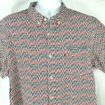 Levis Classic Sportswear Logo Pattern Button Camp Short Sleeve Shirt XL ... - $43.41