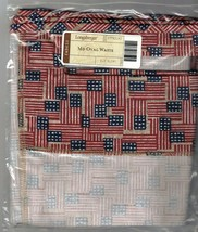 Longaberger Medium Oval Waste Over the Edge Liner ~ Old Glory Fabric - $19.55