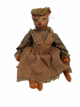 "Vintage Michael Berger Figure Figurine Art Sculpture Orange Cat Doll 21"" image 4"