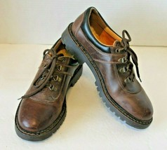 Timberland Mens 9 Brown Black Leather Shoes Made In Italy Size 9 - $37.25