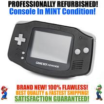 *NEW GLASS SCREEN* Nintendo Game Boy Advance GBA Onyx Black System MINT NEW - $49.45