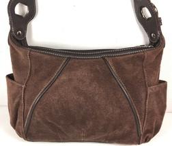 Tignanello Brown Suede Leather Shoulder Bag - $35.88