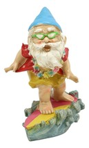 Hawaii Themed Vacation Fairy Garden Ocean Surfer Gnome Figurine Mr Gnome... - $16.99