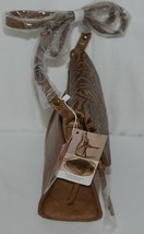 Simply Noelle Brand Tan Brown Color Floral Leaf Pattern Womens Purse image 2