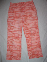 Patagonia womens 6 Capri Pants Pink Orange Swir... - $15.83