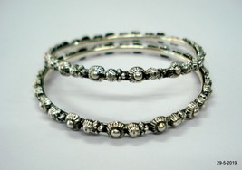 Sterling Silver Bangle Bracelet Chudiyan Traditional Handmade Jewellery - $127.71